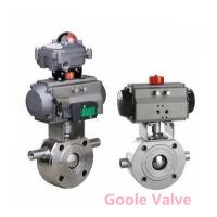 Buy cheap Pneumatic jacketed ball valve from wholesalers