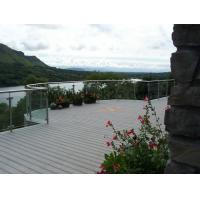 Buy cheap Dark Grey Waterproof WPC Decking Boards , Recycled Plastic Decking Material With Mountain Landscape from wholesalers