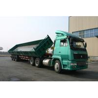 Buy cheap 3 Side Dump Trailer / Open-top Tank Semi Trailer For Long Tipper , low center of gravity from wholesalers