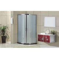 Buy cheap Silding Quadrant Shower Cubicles with  Bright Silver Aluminum Frame from wholesalers