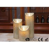 Buy cheap Dancing Flame Battery Operated Candles , Romantic Flickering Flame Led Wax Candle product