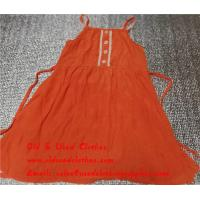 Buy cheap Bundle Used Kids Clothes Second Hand Childrens Clothing Girls Orange Dress from wholesalers
