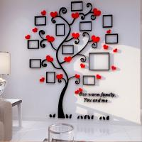 creative home decoration self adhesive photo frame family