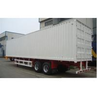 Buy cheap Two / Tri axle flatbed / gooseneck Box Van Truck Trailer with 40T - 60T Loading capacity from wholesalers