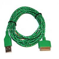 Buy cheap Durable 30 Pin To USB Micro Usb Sync Cable 3ft Covered With Green Nylon product