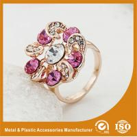 Buy cheap Zinc Alloy High Fashion Jewelry Rings ,  Ladies Gold Rings With Colorful Zircon from wholesalers