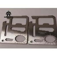 Buy cheap Metal    Multi Function  Stainless Steel Business Cards Outdoor   Camping Travelling Support product