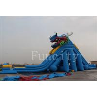 Buy cheap Dragon Theme Inflatable Water Slide For Adults / Kids 0.55mm PVC Tarpaulin from wholesalers