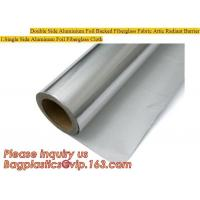 Buy cheap Double side Aluminium foil backed fiberglass fabric attic radiant barrier cloth,aluminium foil woven cloth, bulding mate from wholesalers