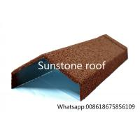 Buy cheap stone coated metal roofing sheet manufacturer/synthetic resin roof tile/made in China Angle Ridge from wholesalers