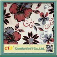 Buy cheap 300g/m2 Polyester Sofa Upholstery Fabric 2 Color Tone Flocking / Printing product