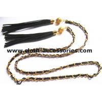Buy cheap Fringe Gold  Chain Belts For Ladies / Durable Sweater Skinny Waist Belt from wholesalers