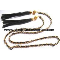 Fringe Gold  Chain Belts For Ladies / Durable Sweater Skinny Waist Belt