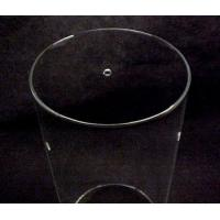 Buy cheap Custom Cylinder Tube Glass for Tripod Fixture Pendant Light Shade with 3 Holes Lamp from wholesalers