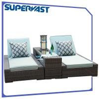 Buy cheap Luxury Living Garden Outdoor Patio Chairs Furniture PE Rattan Chaise Lounge With Cushion from wholesalers