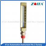 Buy cheap Bottom Mount Industrial Mercury Thermometer , Glass Industrial Thermometer 110mm*40mm from wholesalers