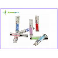 Buy cheap Fashion USB 2.0 Flash Pen Drive , Crystal Heart USB Flash Drive Diamond Memory Stick product