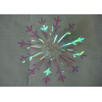 Buy cheap Christmas wrapping and Decorative 4 Snowflake fireworks Bow with PVC Ribbon from wholesalers