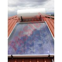 Buy cheap Rooftop Pressurized Flat Plate Solar Water Heater , Solar Powered Heater Blue Film Coating from wholesalers