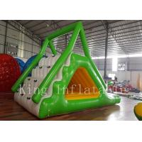 Buy cheap Green / Yellow / White 0.65mm PVC Tarpaulin Inflatable Slide For Summer Water Park from Wholesalers