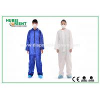 Buy cheap Protective Safety Blue Disposable Coveralls for Men , Eco Friendly Durable from wholesalers