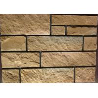 Buy cheap Rectangle Exterior Faux Stone , Stone Siding Panels For Homes product