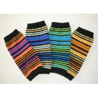 Buy cheap Soft Striped Knitted Arm Warmer Pattern , Long Fingerless Gloves For Girls from wholesalers