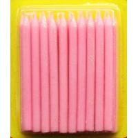 Buy cheap Light Pink Color Glitter Birthday Candles 20pcs For Girls Party / Valentine's Day from wholesalers