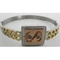 Buy cheap Wholesale US Dollar Stainless Steel Bangles in Gold Plating from wholesalers