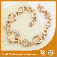 Buy cheap Gold Personalised Metal Chain Bracelet Custom Engraved Bracelets from wholesalers