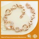 Buy cheap Gold Personalised Metal Chain Bracelet Custom Engraved Bracelets from wholesalers