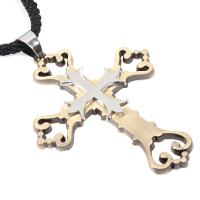 Buy cheap Simple retro hollow carved pendant cross pendant wholesale alloy fittings QNN4018 from wholesalers