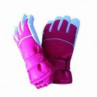 Buy cheap Girl's Ski Gloves, Contrast Color on Fourchette from wholesalers