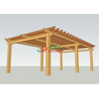 Prefab Wood Plastic Composite Pergola  No Painting Antisepsis 8.3m X 5m For Garden