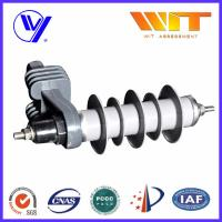 Buy cheap 10KA Transformer Substation Zinc Oxide Lightning Arrester With Steel Bracket from wholesalers