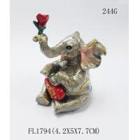 China Pewter Golden wedding favors gifts elephant trinket jewelry box on sale