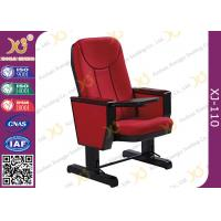 Buy cheap 560mm Center Distance Fabric Cushion Padded Church Chairs For Meeting Room from wholesalers
