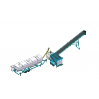 Buy cheap Load 750L 50CBM/H Portable Concrete Batching Plant For Construction from wholesalers