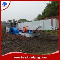 Buy cheap Head Dredging trash skimmer for river rubbish collecting aquatic weed harvester product