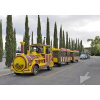 Buy cheap 3kw Tourist Train Rides Sightseeing Roundhouse Trackless Trains Customized Size from wholesalers