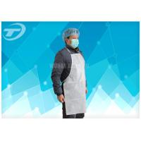 Buy cheap Adults PVC disposable polyethylene aprons With Tie / Polyvinyl Chloride Fabric from wholesalers