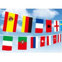 Buy cheap Digital Printing International Flag String High Resolution With Recycled Material from wholesalers