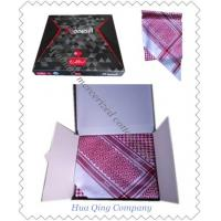 Buy cheap 100S/2 Arabian mercerized cotton scarf  /  Arabia pure cotton jacquard kerchief from wholesalers