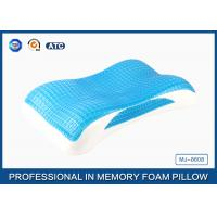 Buy cheap Wave Contour Memory Foam Cooling Gel Pillow with Luxury Tencel Pillow Cover product