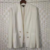 Buy cheap Loose Fit Casual White Blazer Double - Breasted For Office Ladies from wholesalers