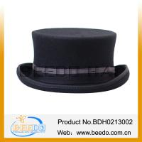 Buy cheap Wool Felt Black Plug Silk Top Hats Wholesale from wholesalers