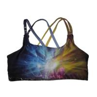 Buy cheap OEM Design Over sized Sexy Sublimation Full Printing Yoga Sports Bra Custom  for Girl product