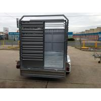 Buy cheap Double Axle Cattle Crate Trailer With An Extra Wheel / Hydraulic Brake Drum from wholesalers