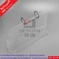 Buy cheap Plastic Desk Calendar Holder With Pen Holder Acrylic Stand Clear from wholesalers