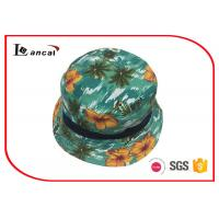 Buy cheap Cotton Hawaii Printed Bucket Hat For Kids , Adjustable Size Green Bucket Cap from wholesalers